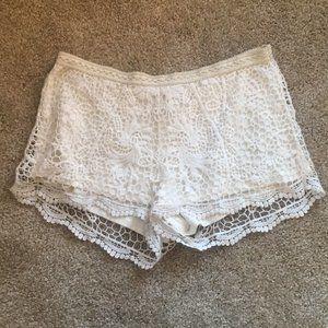 White Lace Shorts